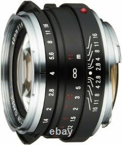 Voigtlander Monofocal Lens NOKTON Classic 40mm F1.4 SC 131521 Fast Shipping NEW