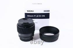 2018 Lentille Unique Objectif Sigma 56mm F1.4dcdn Contemporain 56mm F1.4dcdn Pour Sonye