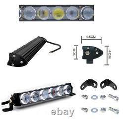 42 Pouces 4d Lens Single Row Led Work Light Bar Driving Offroad Car Truck Boat 44