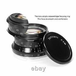 7 Artisans 35mm F1.2 Single Focus Longueur Manuel E Mount Prime Lens F Sony Caméra