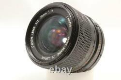 Canon Fd 28mm F2 Mono-focus Lentille Avant Et Bouchon Arrière Bon État Meilleur Prix