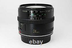Canon Single Focus Grand Angle Objectif Ef 24mm F/2.8 Pleine Grandeur Compatible Depuis Le Japon