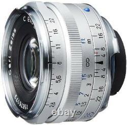 Carl Zeiss C Biogon T 35 F2.8 Zm Mount Lens Silver Ems Fabriqués Au Japon Avec Nouveau