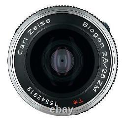 Carl Zeiss Lens Biogon T 2.8 28 F2.8 28mm Zm Bk Noir Nouveau