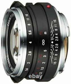 Cosina Voigtlander Nokton Classique 40mm F1.4 Sc Lens Japan Ver. Nouveau