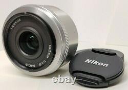 Exc+3 Nikon 1 Nikkor 18,5mm F/1.8 Lens Monofocus Argent Avec Casquettes Du Japon