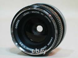 Excellent+++++ Canon Fd 28mm F3.5 Lentille De Focale Unique Grand Angle Du Japon 0902