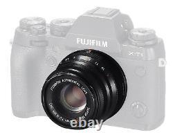 Fujifilm Fujinon Lentille À Foyer Unique Xf 35mm F2 R Wr B (noir) Nouveau Dans Box Dhl Fast
