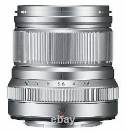 Fujifilm Single Focus Medium Telephoto Lens Xf50mmf2 R Wr S Silver 50mm Nouveau