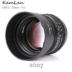 Kamlan 50mm F1.1 Fixation D'ouverture Premier Objectif Unique 4/3 Montage Pour Olympus