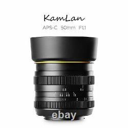 Kamlan 50mm F1.1 Single Fix Focus Manual Prime Lens Fx Mount Pour Fujifilm Camera