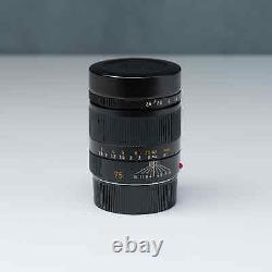 Leica Summarit-m 75mm F2.5 Lentille Avec Capot En Boîte