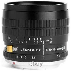 Lensbaby Burnside 35 35mm F/2.8 Lens For Pentax K Mount Japon Nouveau Livraison Gratuite