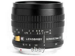 Lensbaby Burnside 35 Lens Pour Fujifilm Japon Ver. Nouveau/liberté D'expédition