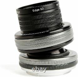 Lensbaby Objectif Inclinable Compositeur Pro II Avec Edge 50 50mm F3.2 Canon Pleine Grandeur Nouveau