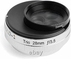 Lensbaby Objectif Simple Focus Trio 28 28mm F3.5 Canon Rf Monter Argent Pleine Grandeur