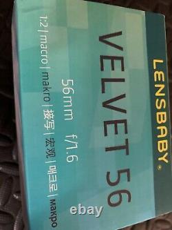 Lensbaby Velvet 56 Lens Black Free-shipping Excellent État Dans La Boîte