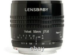 Lensbaby Velvet 56 Lens Pour Nikon Black Japan Ver. Nouveau/liberté D'expédition