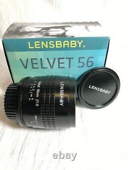 Lensbaby Velvet 56 Noir Pour Nikon F Mount Perfect