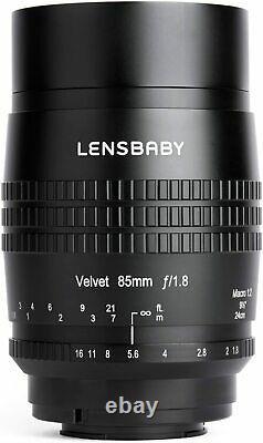 Lensbaby Velvet 85 85mm F1.8 Lens Pour Fujifilm X Monture Japan Ver. Nouveau Du Japon