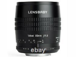 Lensbaby Velvet 85 Lens Pour Sony Japan Ver. Nouveau/liberté D'expédition