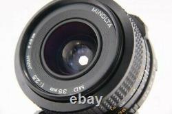 Minolta MD 35mm F2.8 Minolta Objectif Monofocus Utilisé Caméra Slr Objectif Caméra 7658