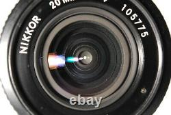 Mint/ Nikon Ai 20mm F4 Nikkor Lens Mf Slr Caméra De Cinéma Du Japon