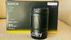 Nikon Nikkor Z 85mm F / 1.8 S Modèle Américain