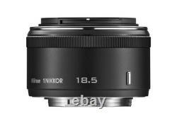 Nikon Objectif De Mise Au Point Unique 1 Nikkor 18,5 MM F / 1.8 Noir Nikon CX 4960759027504