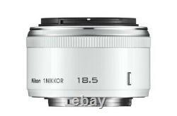 Nikon Single Focus Lens 3327 1 Nikkor 18.5mm F/1.8 White Nikon CX Format Seulement