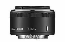 Nikon Single Focus Lens1 Nikkor 18.5 MM F/1.8 Black Nikon CX Format Seulement F/s New