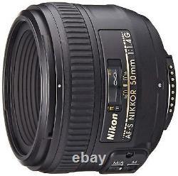 Nikon Single-focus Lens Af-s Nikkor 50mm F/1.4g Full Size Ems Avec Suivi Nouveau