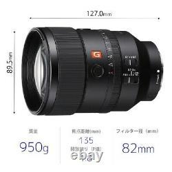 Objectif Des Caméras Fe 135mm F1.8 Gm G Master Sel135f18gm Sony E/objectif De Focalisation Unique