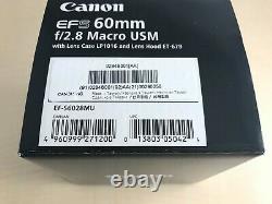 Objectif Monofocus Ef-s 60 MM F 2.8 Macro Usm Aps-c Compatible