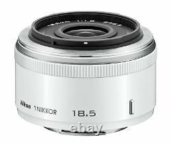 Objectif Monofocus Nikon 1 Nikkor 18,5mm F / 1.8 Blanc Nikon CX Seulement