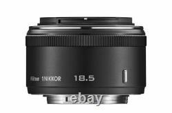 Objectif Monofocus Nikon 1 Nikkor 18,5mm F / 1.8 Noir Nikon CX Seulement