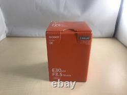 Objectif Monofocus Sony E 30 MM F 3.5 Support Macro Sony E Pour Aps-c Uniquement Sel