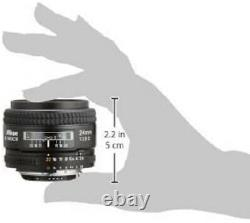 Objectif Nikon Monofocus Ai Af Nikkor 24mm F/2.8 Full Size Compatible Japon