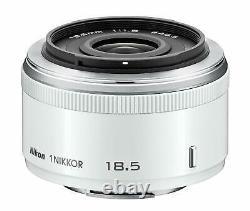 Objectif Unique Nikon 1 Nikkor 18,5mm F / 1.8 Blanc Pour Le Format Nikon CX Nouveau