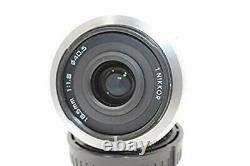 Objectif Unique Nikon 1 Nikkor 18,5mm F / 1.8 Blanc Pour Nikon CX Format Utilisé