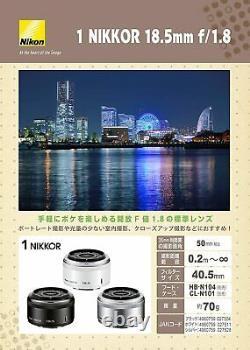 Objectif Unique Nikon 1 Nikkor 18,5mm F / 1.8 Noir Nikon CX Format Seulement