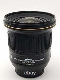 Objectif Unique Nikon Af-s Nikkor 20mm F/1.8g Ed Afs20 Du Japon Utilisé
