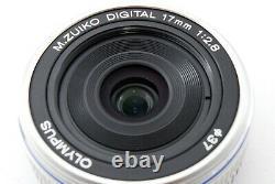 Olympus M. Zuiko Digital 17mm F/2.8 Objectif Simple Objectif Argent Exc++ #707845a