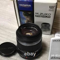 Olympus Seule Lentille De Mise Au Point M. Zuiko Digital 45 MM F 1,8 Noir Ems Avec Suivi