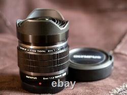 Olympus Single Focus Fisheye Lens M. Zuiko Digital Ed 8mm F1.8 Pro Mft Nouveau