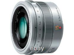 Panasonic Leica Dg Summilux 15mm F1.7 Asph. Lens H-x015-s Argent Japon Ver. Nouveau
