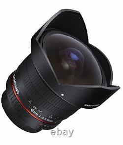 Samyang Single-focus Fisheye Lens 8mm F3.5 Nikon Ae For Aps-c Hood Détachable