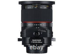 Samyang T-s 24mm F3.5 Ed As Umc Lens Pour Fujifilm Japan Ver. Nouveau