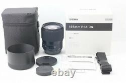 Sigma Art 135mm F1.8 Dg Hsm Single Focus Téléobjectif Pour Canon Ef Full Size