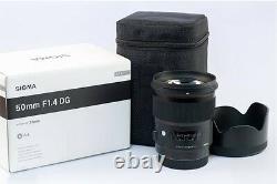 Sigma Single-focus Standard Lens Art 50mm F1.4 Dg Hsm Full Size Pour Sony New